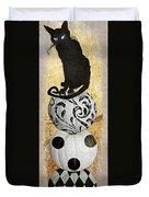 Bad Cat Halloween Duvet Cover