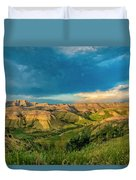 Badlands Np Yellow Mounds Overlook  Duvet Cover