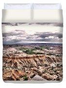 Badlands Panorama Duvet Cover