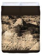 Badlands Sepia Duvet Cover