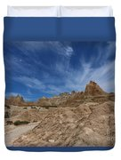 Badlands View From A Trail Duvet Cover