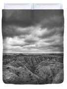 Badlands White River Valley Bw Duvet Cover