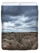 Badlands White River Valley  Duvet Cover