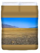 Badwater Basin In Death Valley Duvet Cover