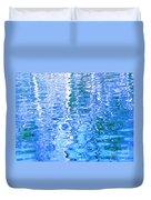 Baffling Blue Water Duvet Cover