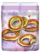Bagels Duvet Cover