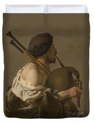 Bagpipe Player Duvet Cover