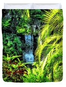 Bahamas - Tropical Waterfall Duvet Cover