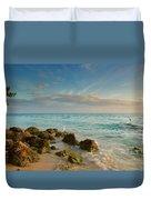 Bahia Honda Shoreline Duvet Cover