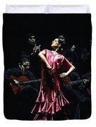 Bailarina Orgullosa Del Flamenco Duvet Cover