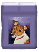 Bailey Terrier Mix Duvet Cover