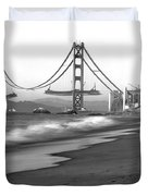 Baker Beach In Sf Duvet Cover