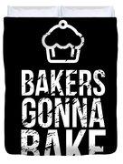 Bakers Gonna Bake Light Cupcake Baking Duvet Cover