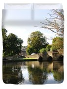 Bakewell Bridge And The River Wye Duvet Cover
