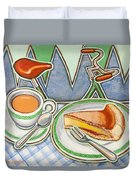 Bakewell Pudding And Cup Of Tea At Eroica Britannia  Duvet Cover