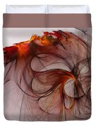 Balance Of Power Abstract Art Duvet Cover