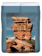 Balanced Rock At Garden Of The Gods Duvet Cover