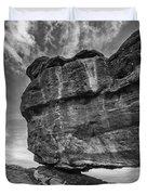 Balanced Rock Monochrome Duvet Cover