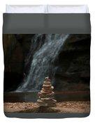 Balanced Stones Waterfall Duvet Cover