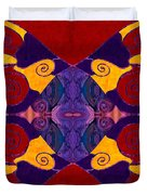 Balancing Affections Abstract Bliss Art By Omashte Duvet Cover
