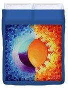 Balancing Sun And Moon Energies Duvet Cover