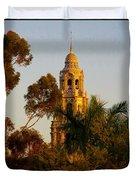 Balboa Park Bell Tower Duvet Cover