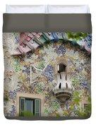 Balcionies Of Casa Batllo In Barcelona, Spain Duvet Cover