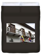 Balconies And Flags Duvet Cover