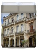Balconies On Old Historic Buildings Duvet Cover