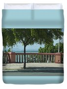 Balcony On The Beach In Naguabo  Puerto Rico Duvet Cover