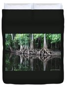 Bald Cypress Trees Along The Withlacoochee River Duvet Cover