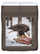 Bald Eagle At The Buffet Duvet Cover
