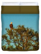 Bald Eagle Burnt Store Marina Florida Duvet Cover
