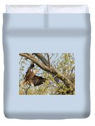Bald Eagle Catch Of The Day  Duvet Cover
