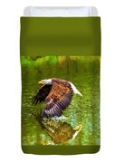 Bald Eagle Cutting The Water Duvet Cover