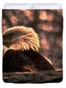 Bald Eagle Electrified Duvet Cover