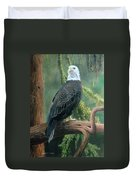 Bald Eagle In Pastel Duvet Cover