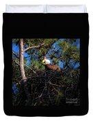 Bald Eagle In The Nest Duvet Cover