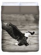 Bald Eagle Landing Duvet Cover