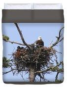 Bald Eagle Nest Duvet Cover
