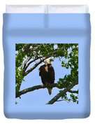 Bald Eagle On Watch Duvet Cover