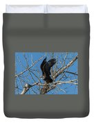 Bald Eagle Pushes Off For Launch Duvet Cover
