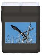 Bald Eagle Shows Its Focus Duvet Cover