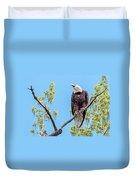 Bald Eagle Warning Duvet Cover