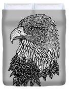 Bald Eagle Zentangle Duvet Cover