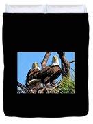 Bald Eagles In Nest Duvet Cover