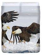 Bald Eagle's Duvet Cover by Wesley Aston