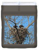 Bald Eagles Working On The Nest   3682 Duvet Cover