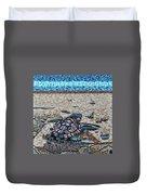 Bald Head Island, Loggerhead Sea Turtle Duvet Cover