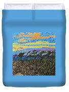 Bald Head Island, Sea Oat Sunset Duvet Cover
